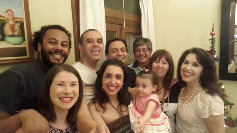 James and Sarah with Argentinian Family