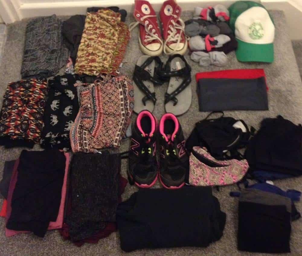 Sarah's clothes