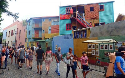 Colourful buildings in La Boca Buenos Aires