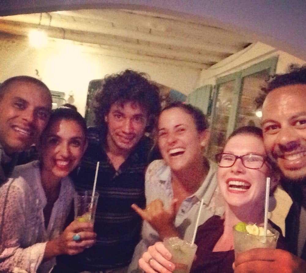 James and Sarah with friends