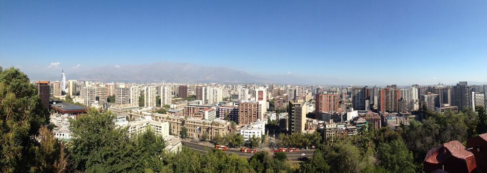 panoramic view of Santiago