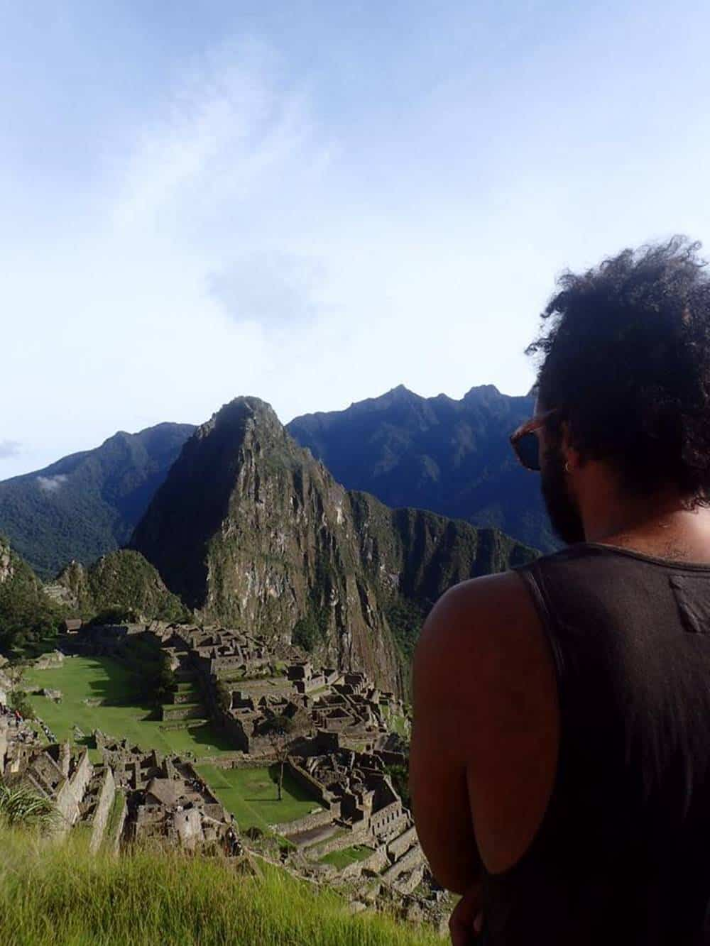 James - Machu picchu view