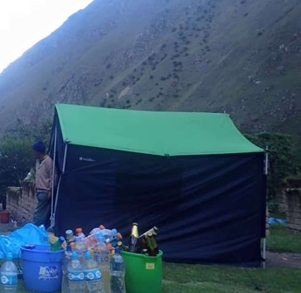 tent where 13 porters slept in