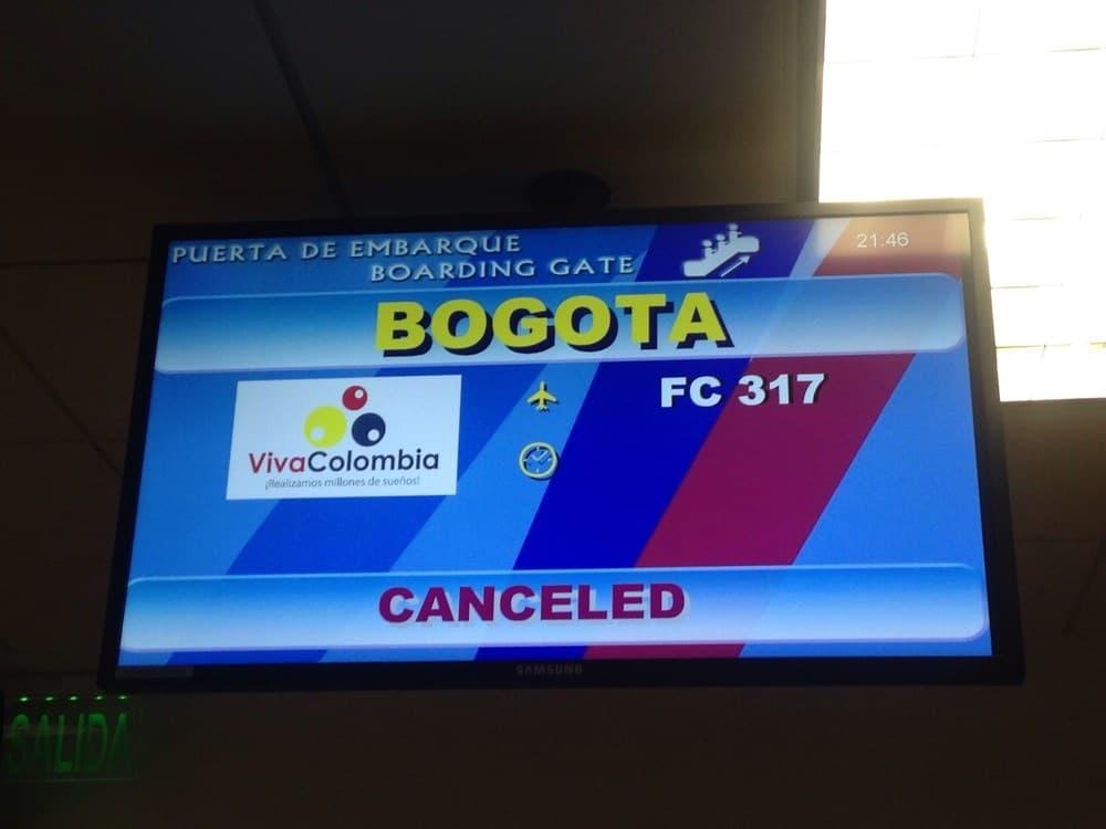 Bogota flight cancelled