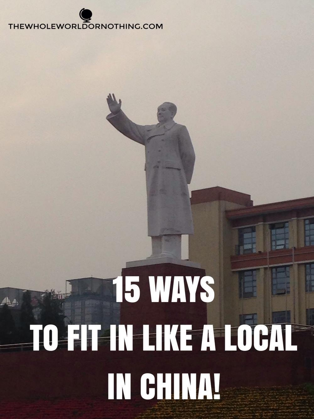 Statue with text overlay 15 ways to fit in like a local in china