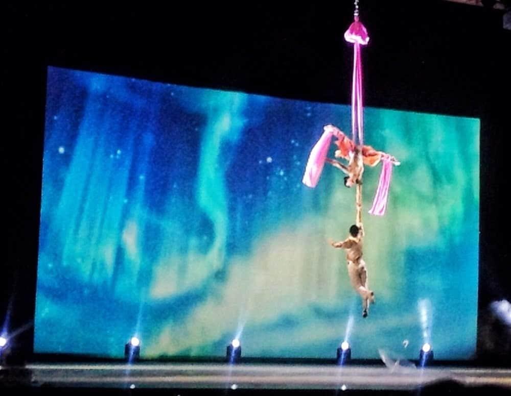 acrobatic feats