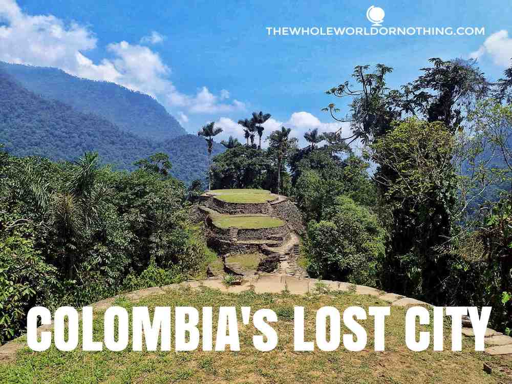 lost city colombia with text overlay