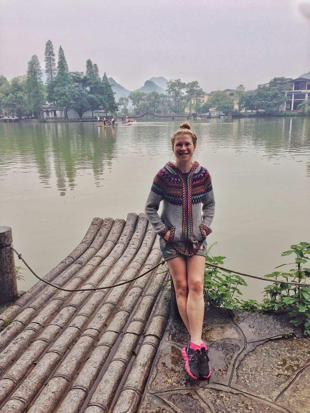 sarah - lake background