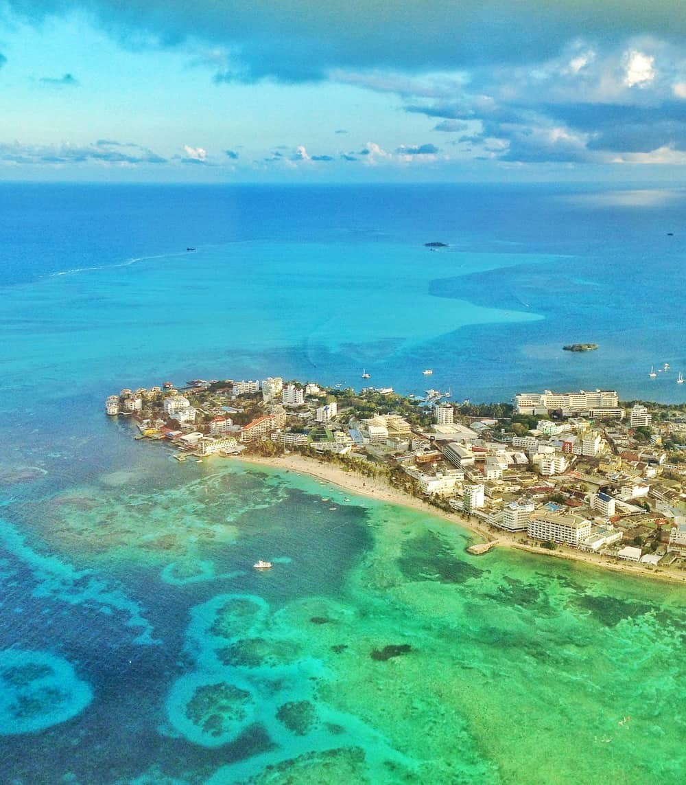 San andres island from above