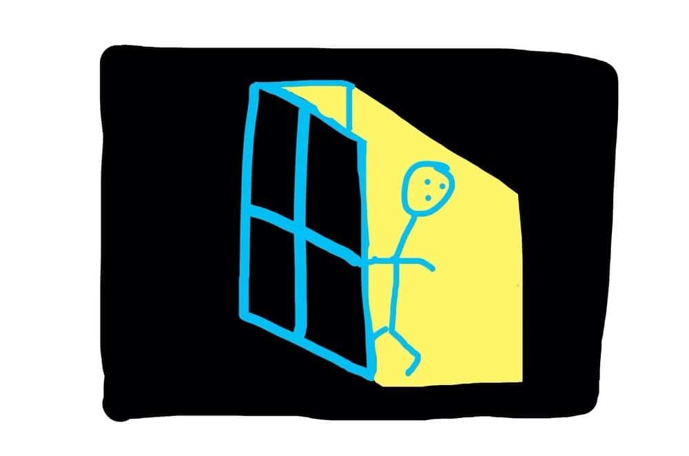 Stickman - door open