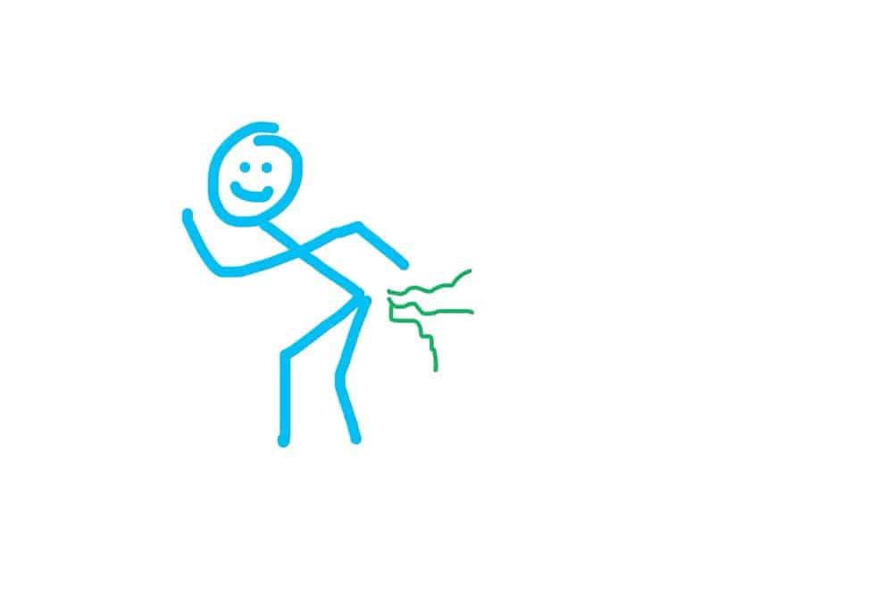 stickman farting