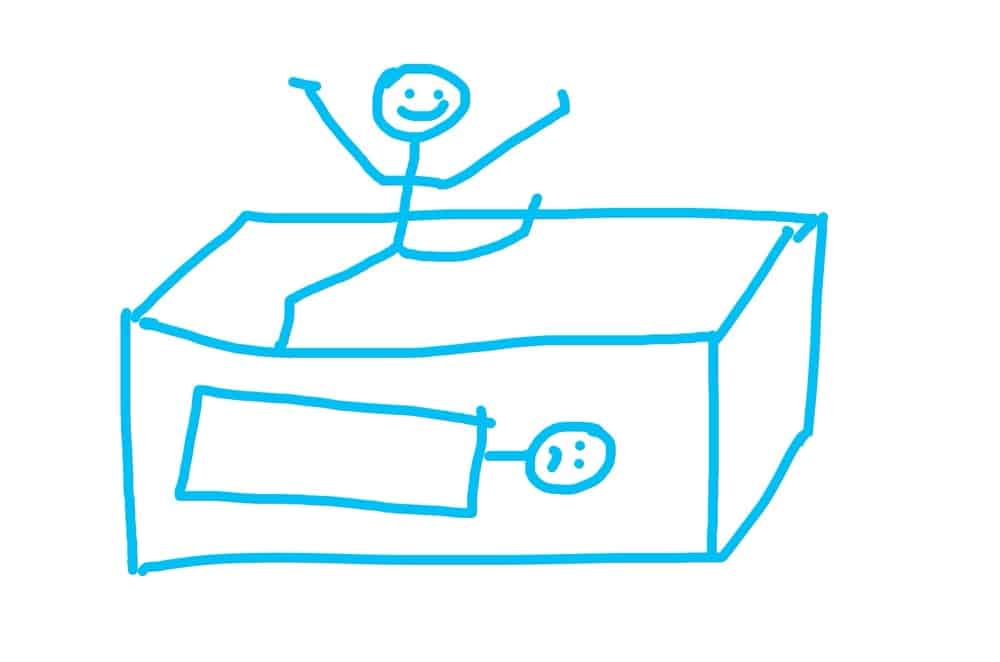 stickmen in a bunk bed