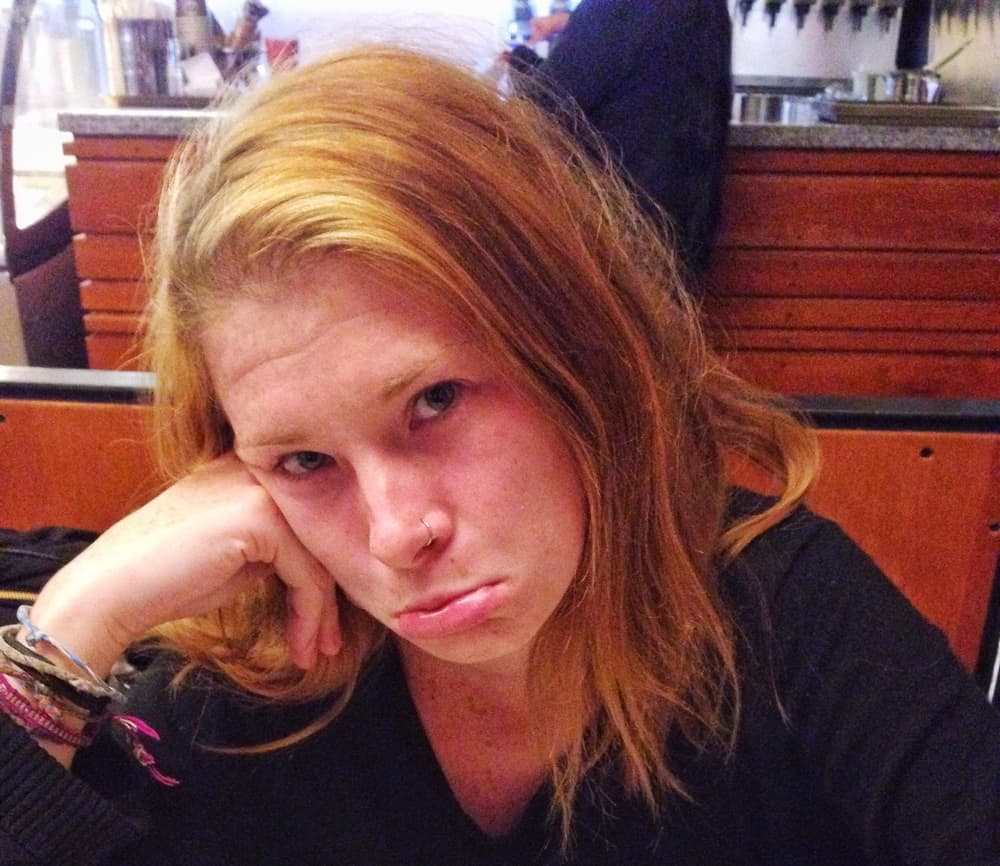 Sarah sulking