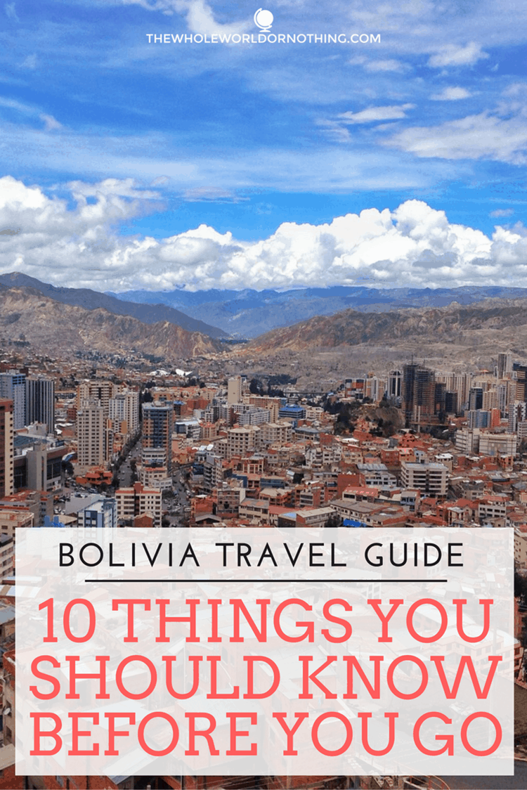 Bolivia view with text overlay Bolivia travel guide 10 things you should know before you go