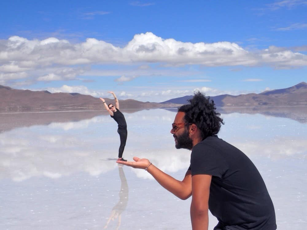 James and Sarah at the Salt Flats in Bolivia