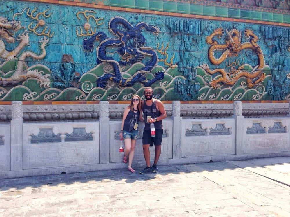 James and Sarah exploring the forbidden city