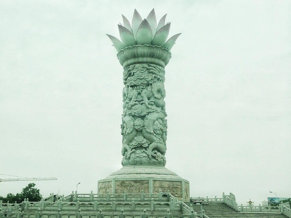 Lotus Flower Statue