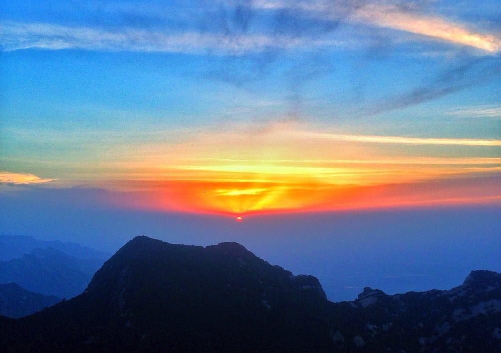 Sunset at Huashan