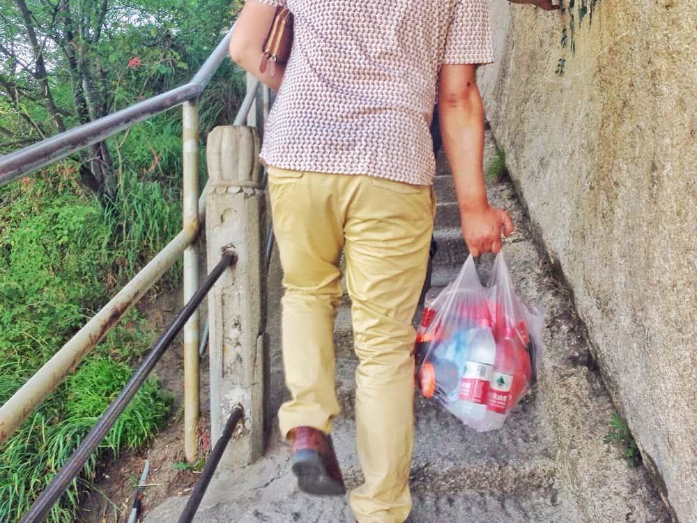 guy bought many snacks