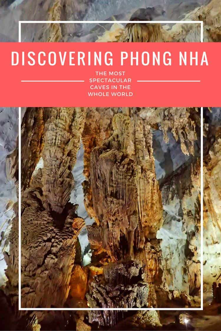 Cave with text overlay discovering phong nha - the most spectacular caves in the whole world