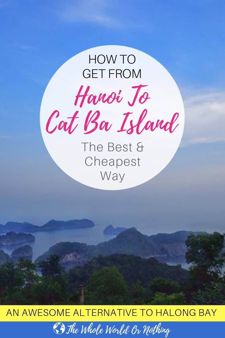 Lan Ha Bay with text overlay How To Get From Hanoi To Cat Ba Island The Cheapest and Best Way
