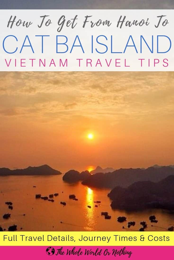 How To Get From Hanoi To Cat Ba Island The Cheapest And