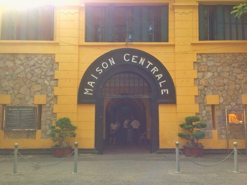entrance to Hoa Lo Prison Hanoi