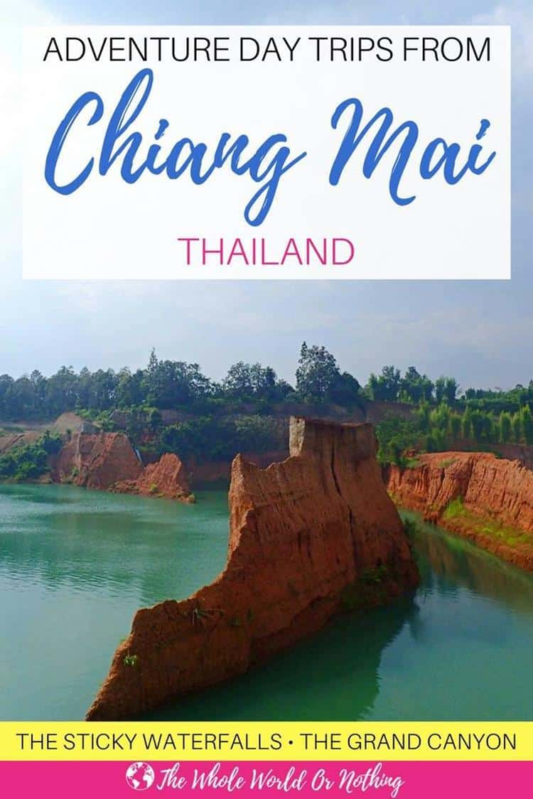 Grand canyon with text overlay adventure day trips in chiang mai