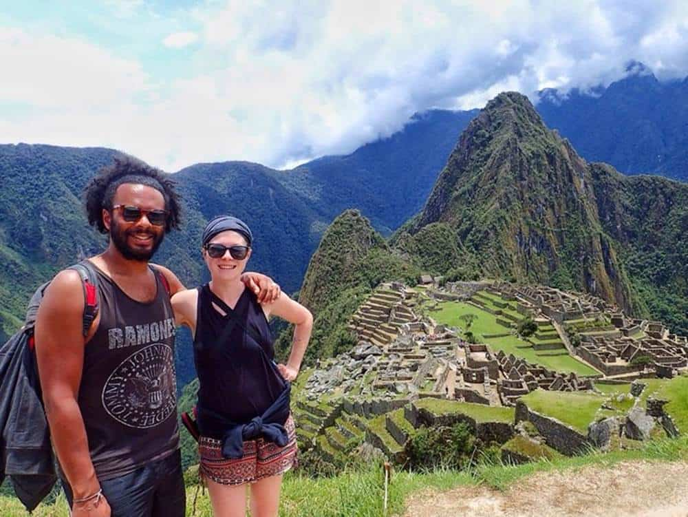 James and Sarah at machu picchu]