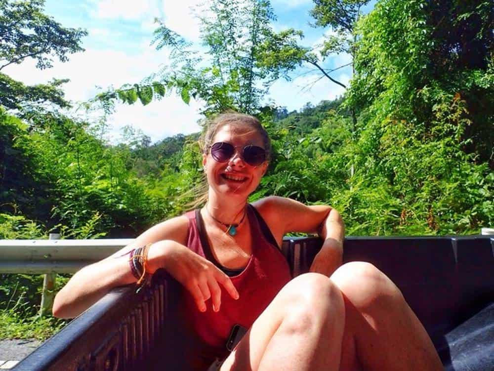 Sarah Hitchhiking in Thailand