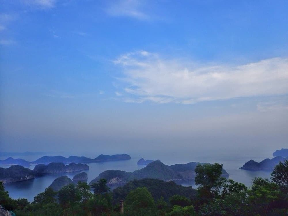 Stunning view from Cat Ba Island
