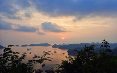 Things to do in Cat Ba Vietnam Sunset Bay Banner