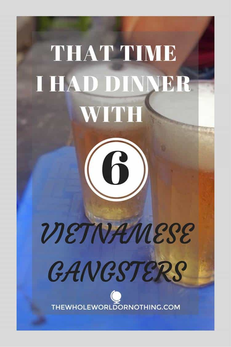 beer with text overlat that time I had diiner with 6 vietnamese gangsters