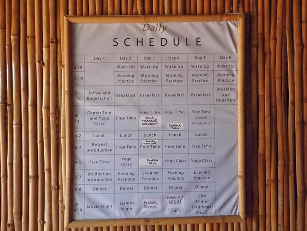 Daily Hariharalaya schedule