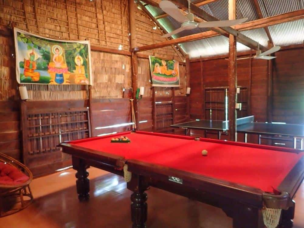 Games room complete with pool table