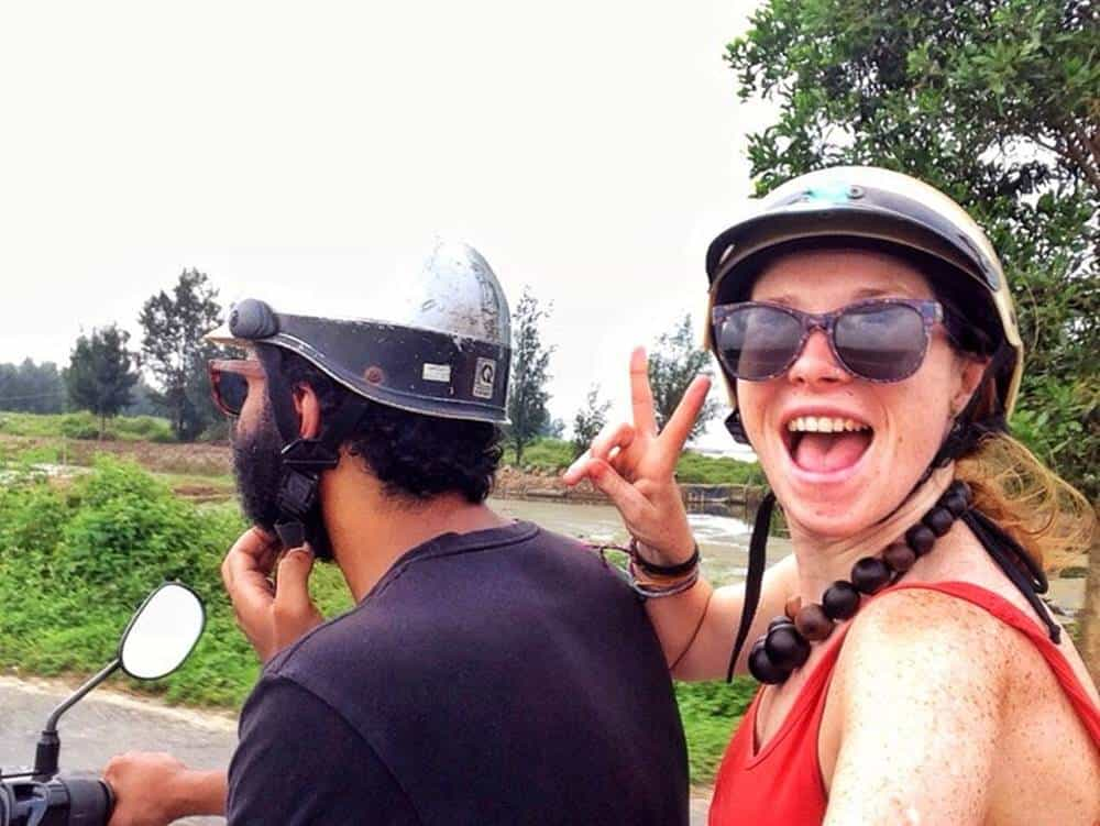 James and Sarah on a motorycle 2