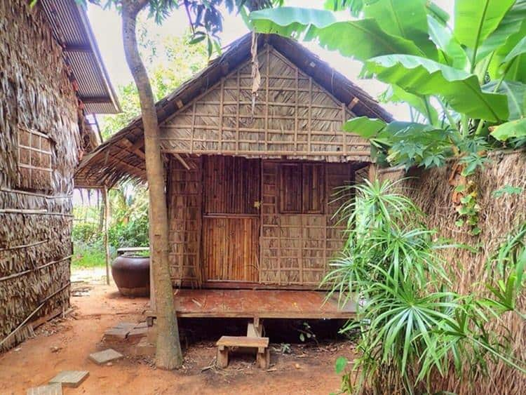 Private traditional bamboo bungalow