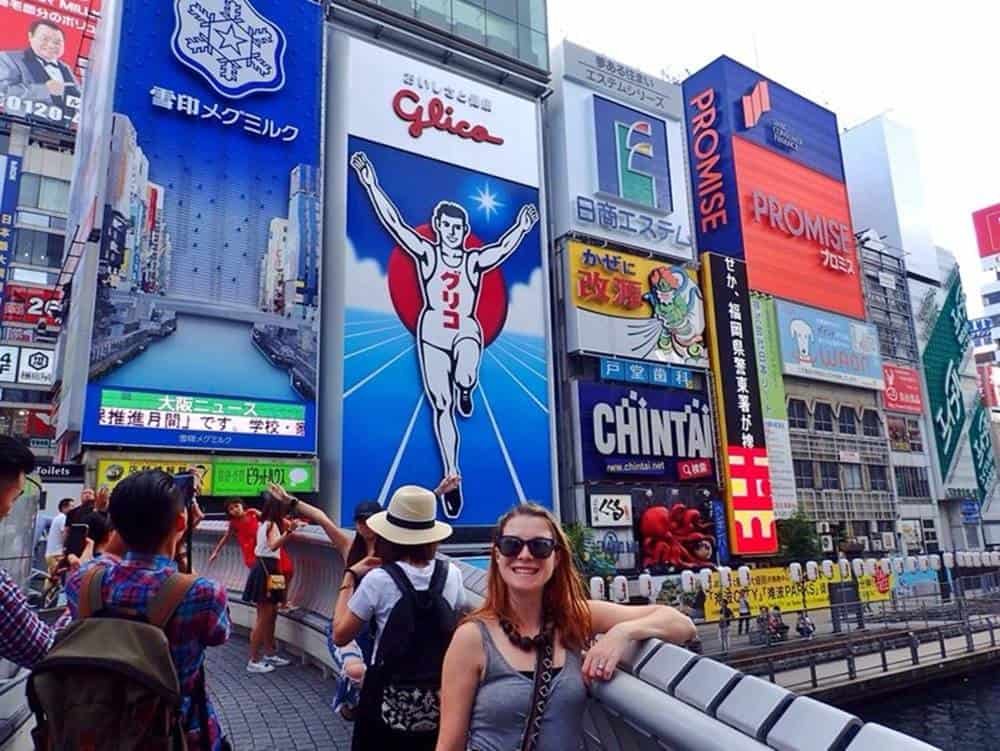 The Glico running man in Osaka