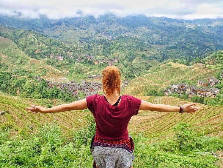 Sarah - rice terraces view