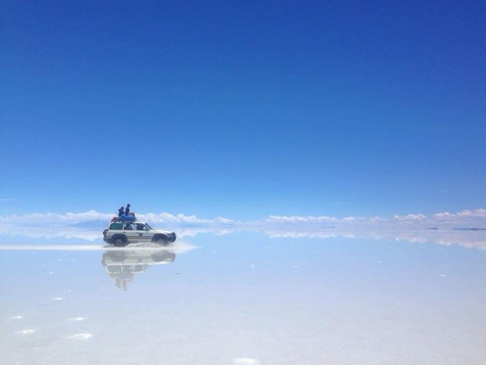 breathtaking view at Bolivian Salt Flats
