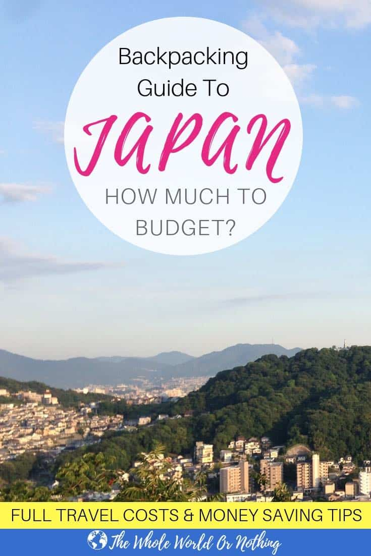 Hiroshima mountains with text overlay Backpacking Guide To Japan