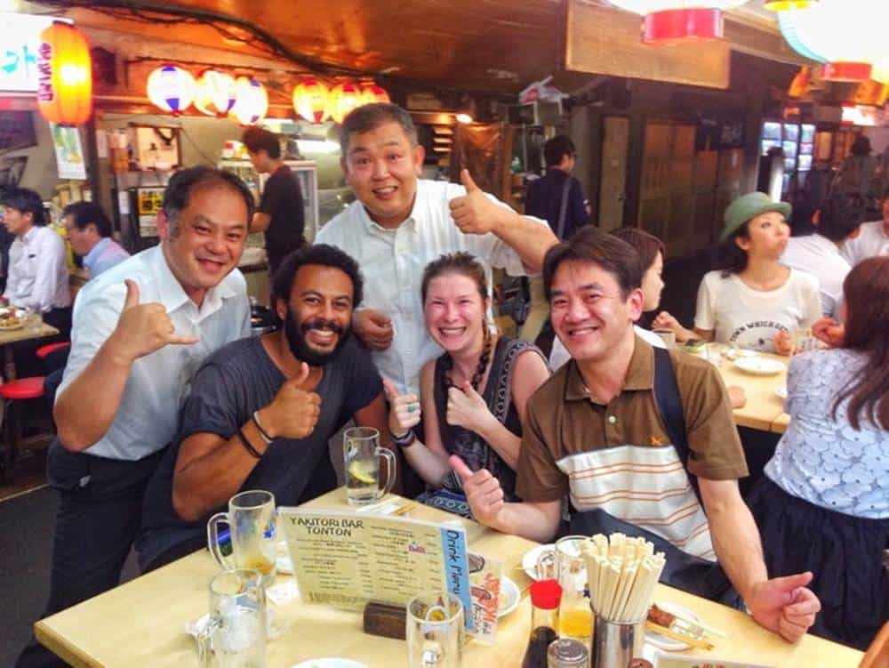 Making friends while backpacking through Japan