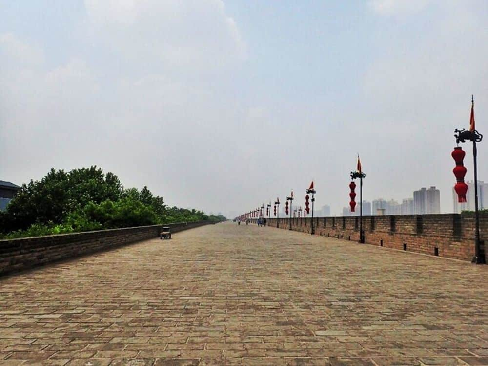 Xian's city wall view