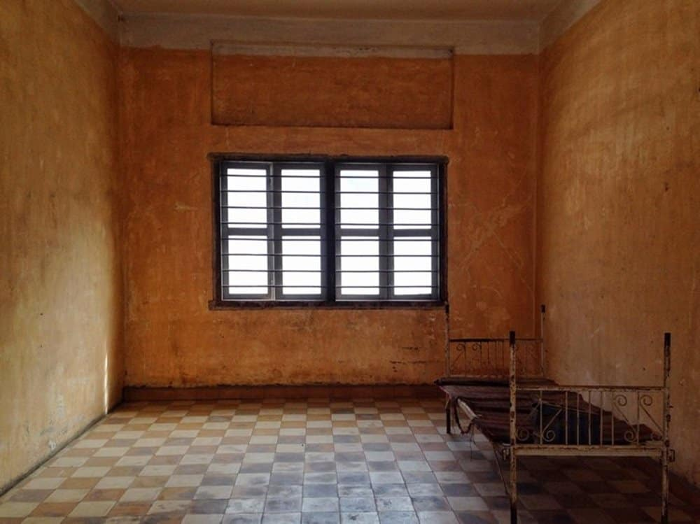 room in Tuol Sleng Genocide Museum