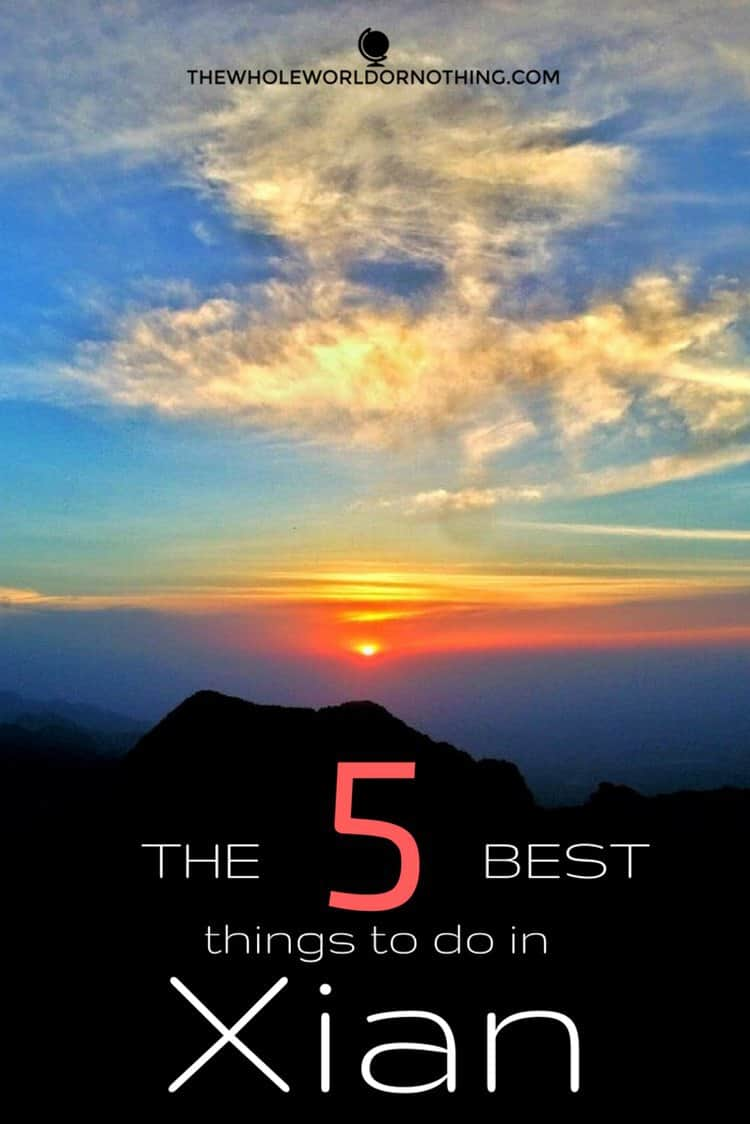 sunset with text overlay The 5 best things to do in Xian