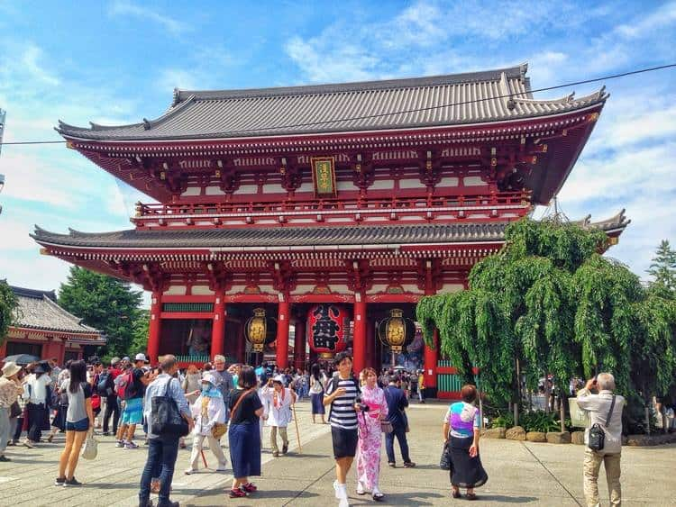 Sensoji Shrine backpack in Japan