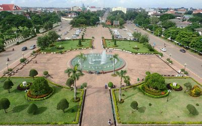 View from Patuxai Victory Monument Vientiane