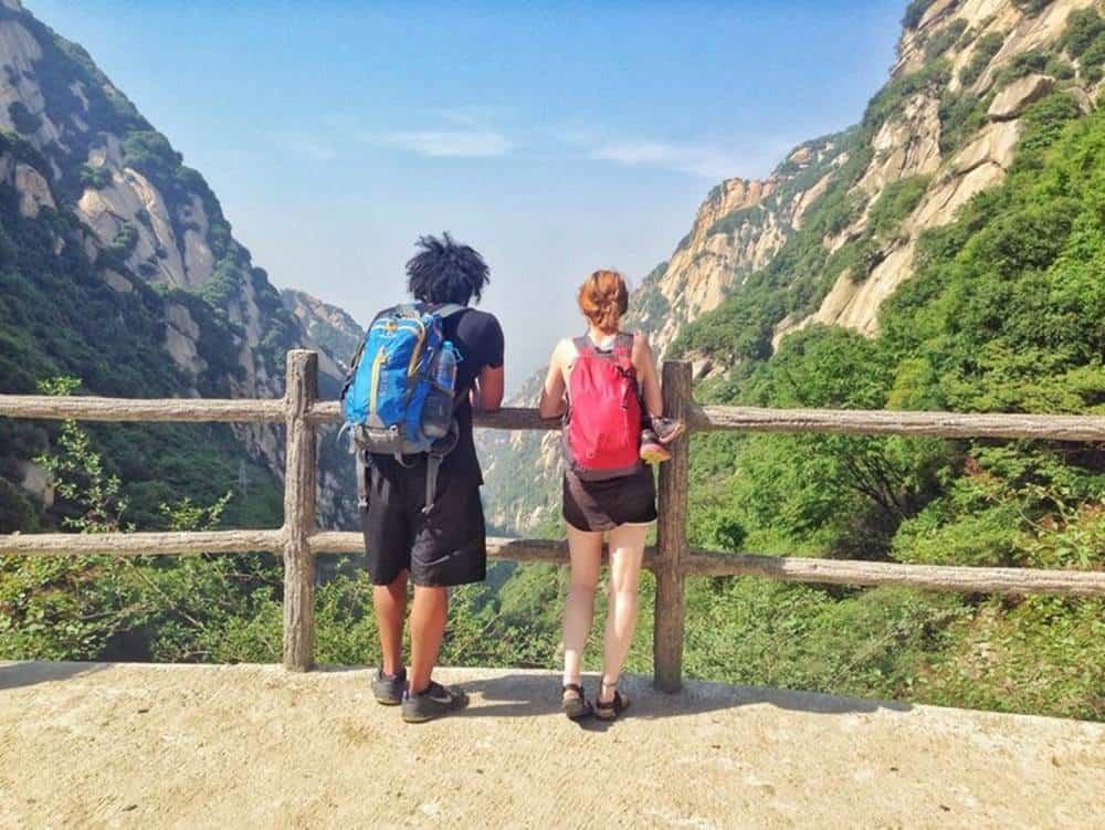 James and Sarah - mountain view