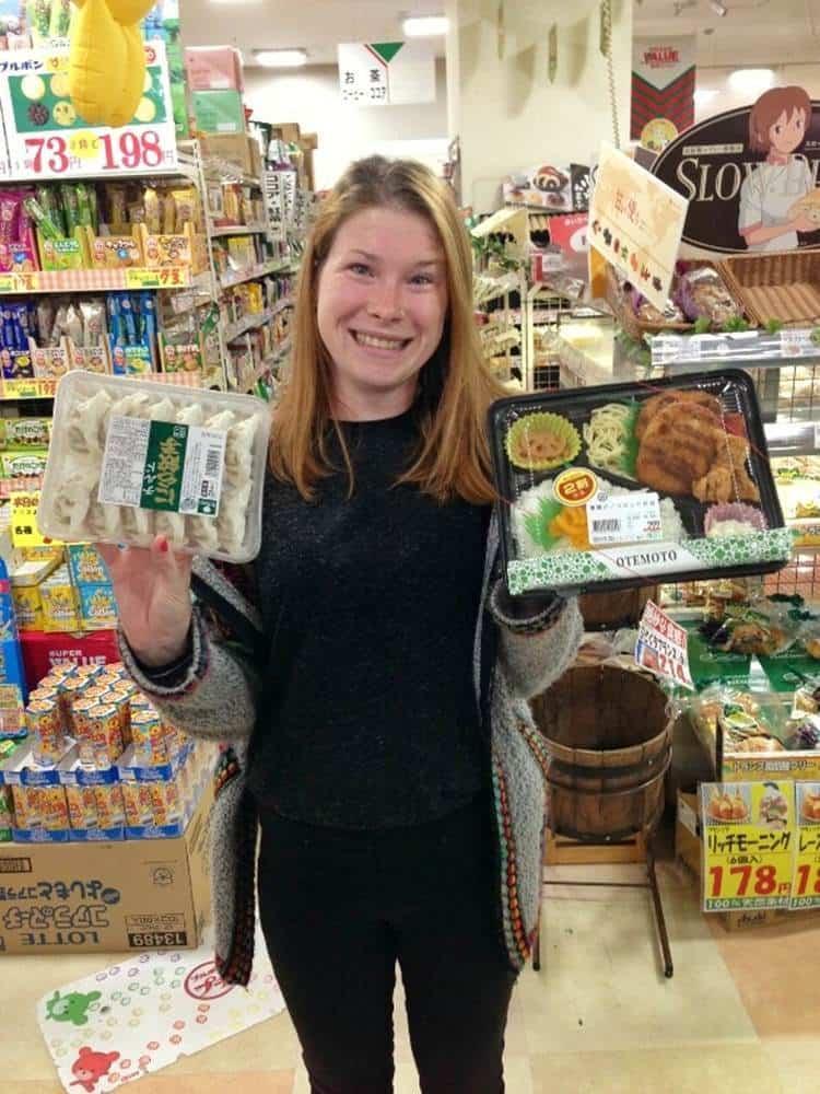 Sarah on a supermarket
