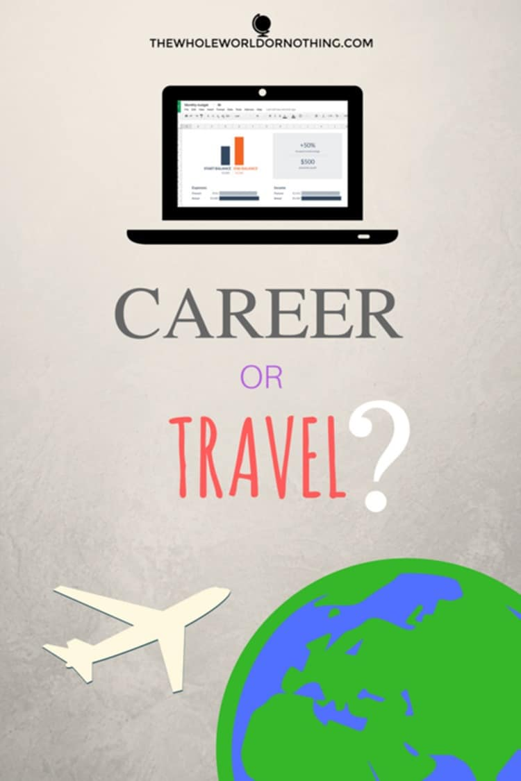 laptop, airplane and earth with text overlay CAREER OR TRAVEL - DO YOU WANT TO BE A HIGH FLYER OR A FREQUENT FLYER